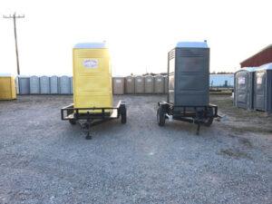 portable toilet for construction site